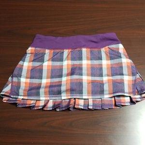 Lululemon Pacesetter Plaid Skirt
